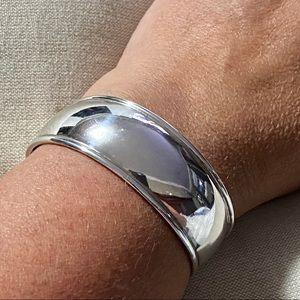 """Sterling Silver 1"""" wide cuff bracelet"""